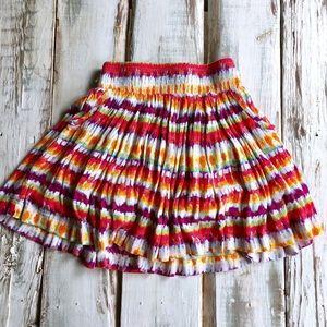 Colorful flair skirt